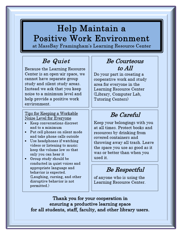 Help Maintain a Positive Work Environment