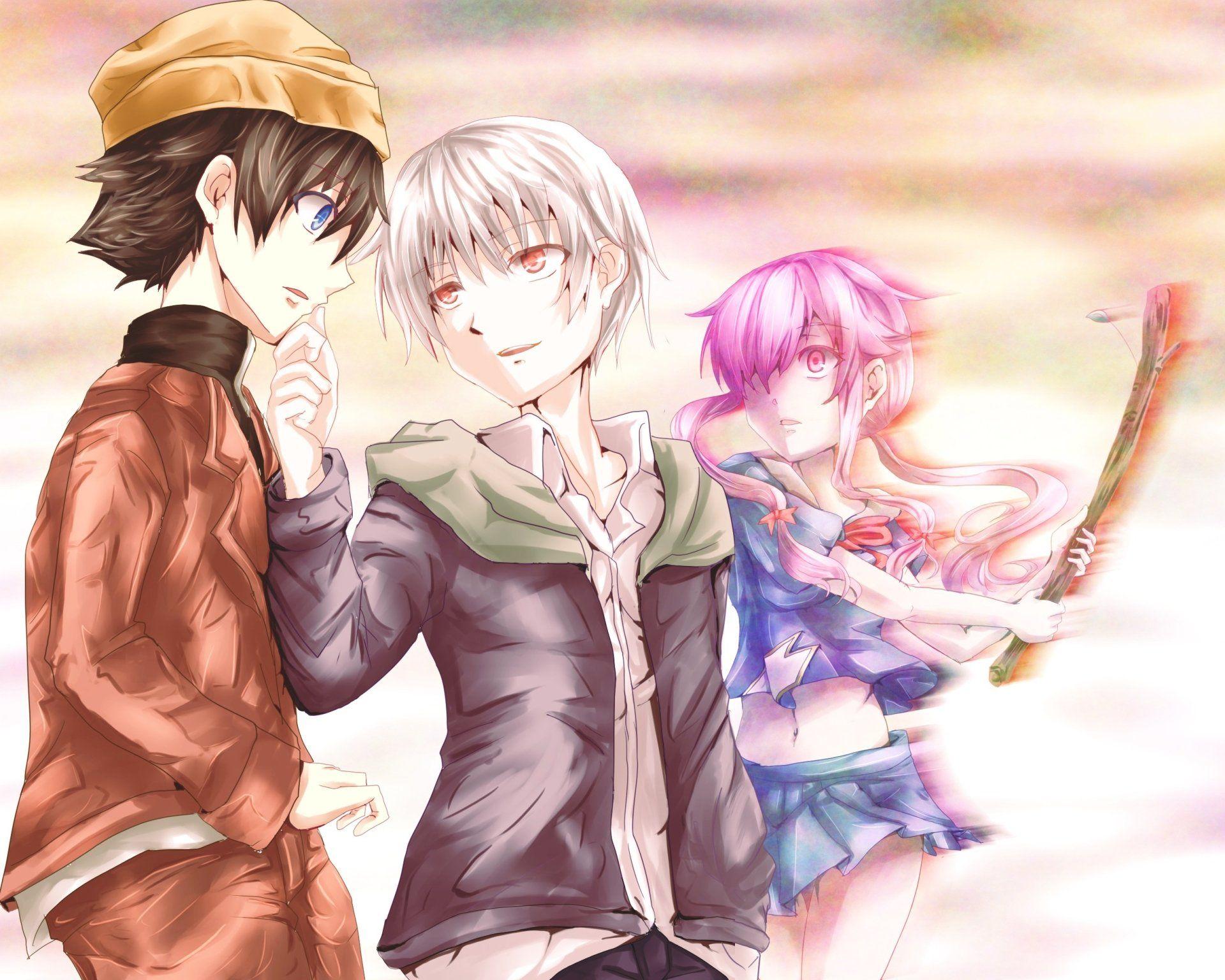 Future Diary Wallpapers Yuno: Anime Mirai Nikki Yukiteru Amano Aru Akise Yuno Gasai