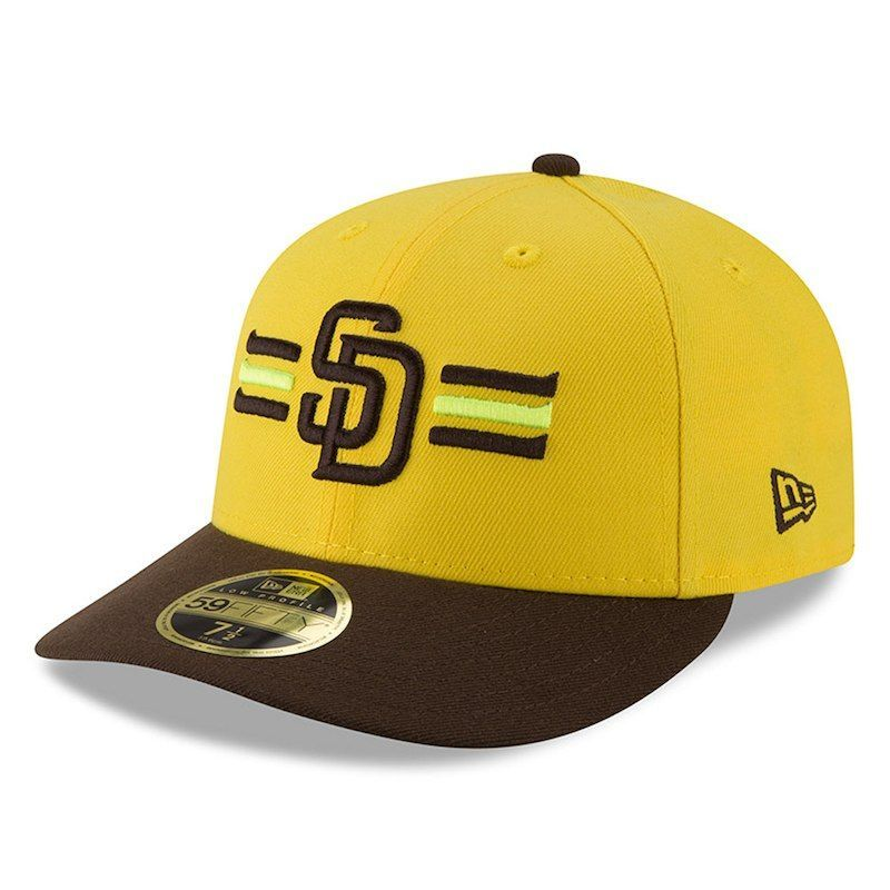 quality design ffd05 b5a32 San Diego Padres New Era 2018 Players  Weekend Low Profile 59FIFTY Fitted  Hat – Yellow Brown