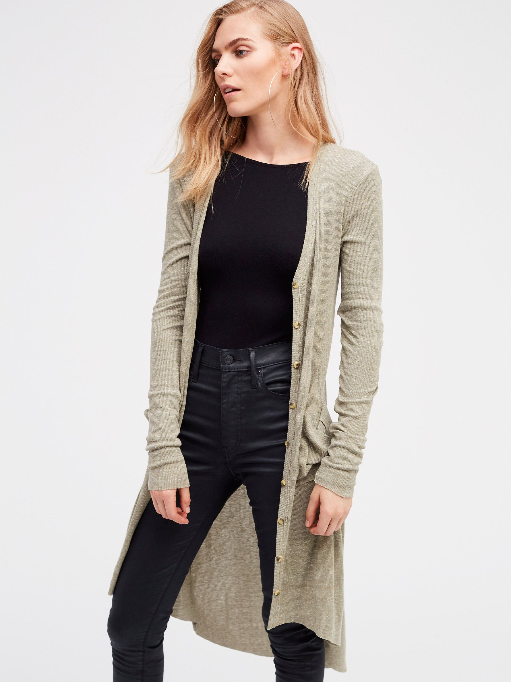Ribbed Up Maxi Cardigan | Lightweight ribbed maxi button up v-neck ...