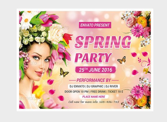 Spring Flyer Template  Flyer Template Template And Creative Design