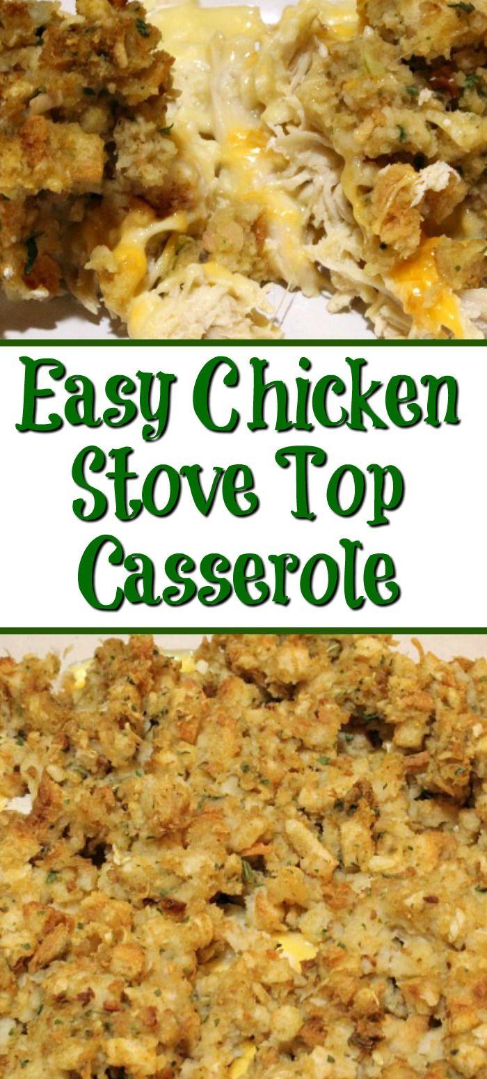 Easy Chicken Stove Top Casserole With Weight Watcher Break
