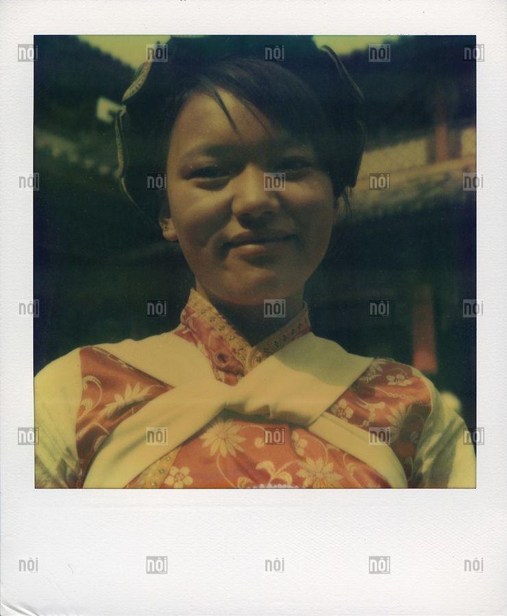 Polaroid sx70 portrait in Yunnan province, China, Asia.