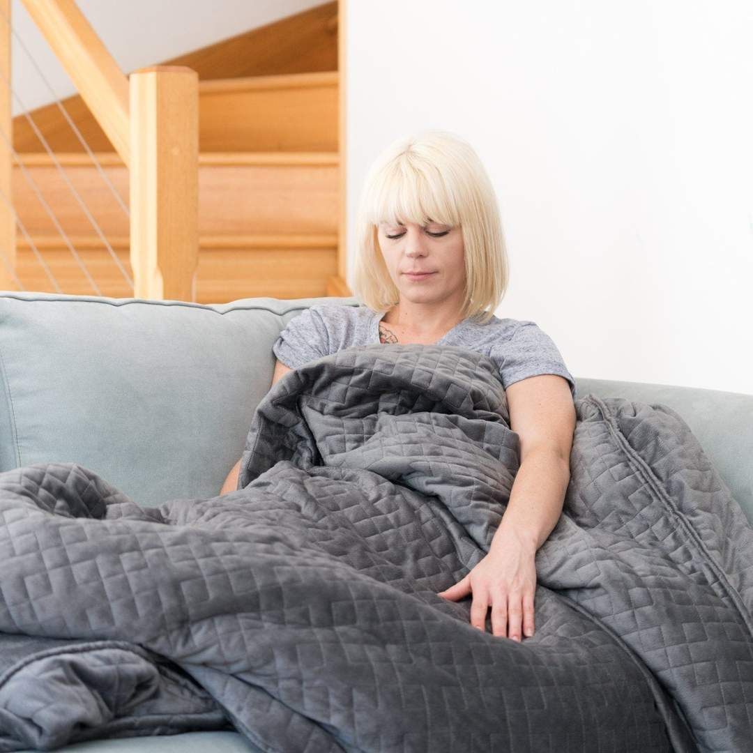 Weighted calming blanket Weighted blanket for adults