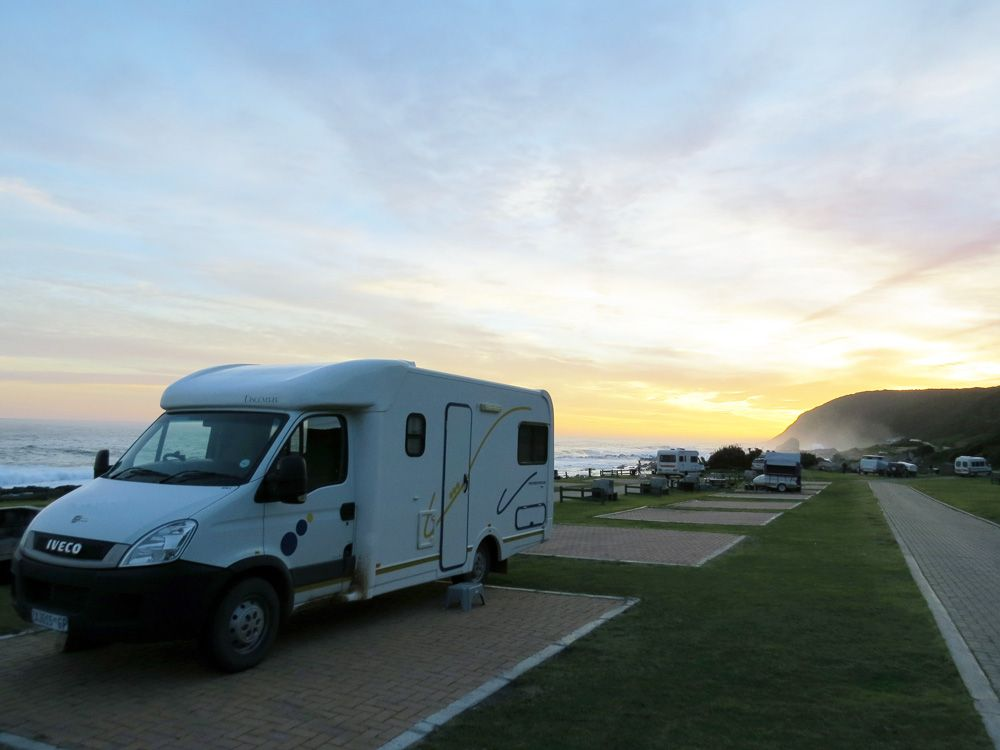 Four berth camper parked at Stormsriver Recreational