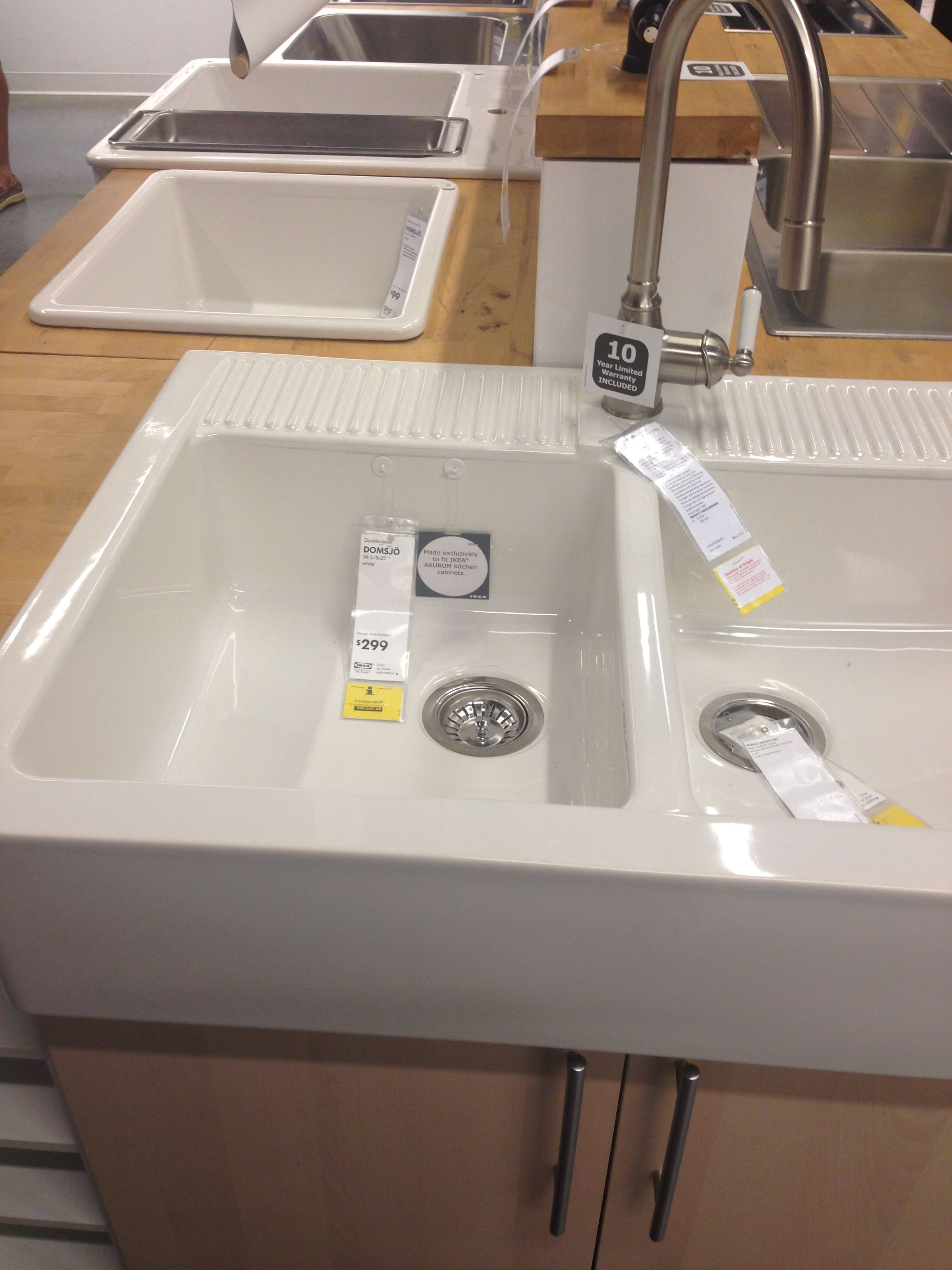 Ikea Vitrine Pour Collection ~ Domsjo sink Ikea $299  Kitchen Components  Pinterest