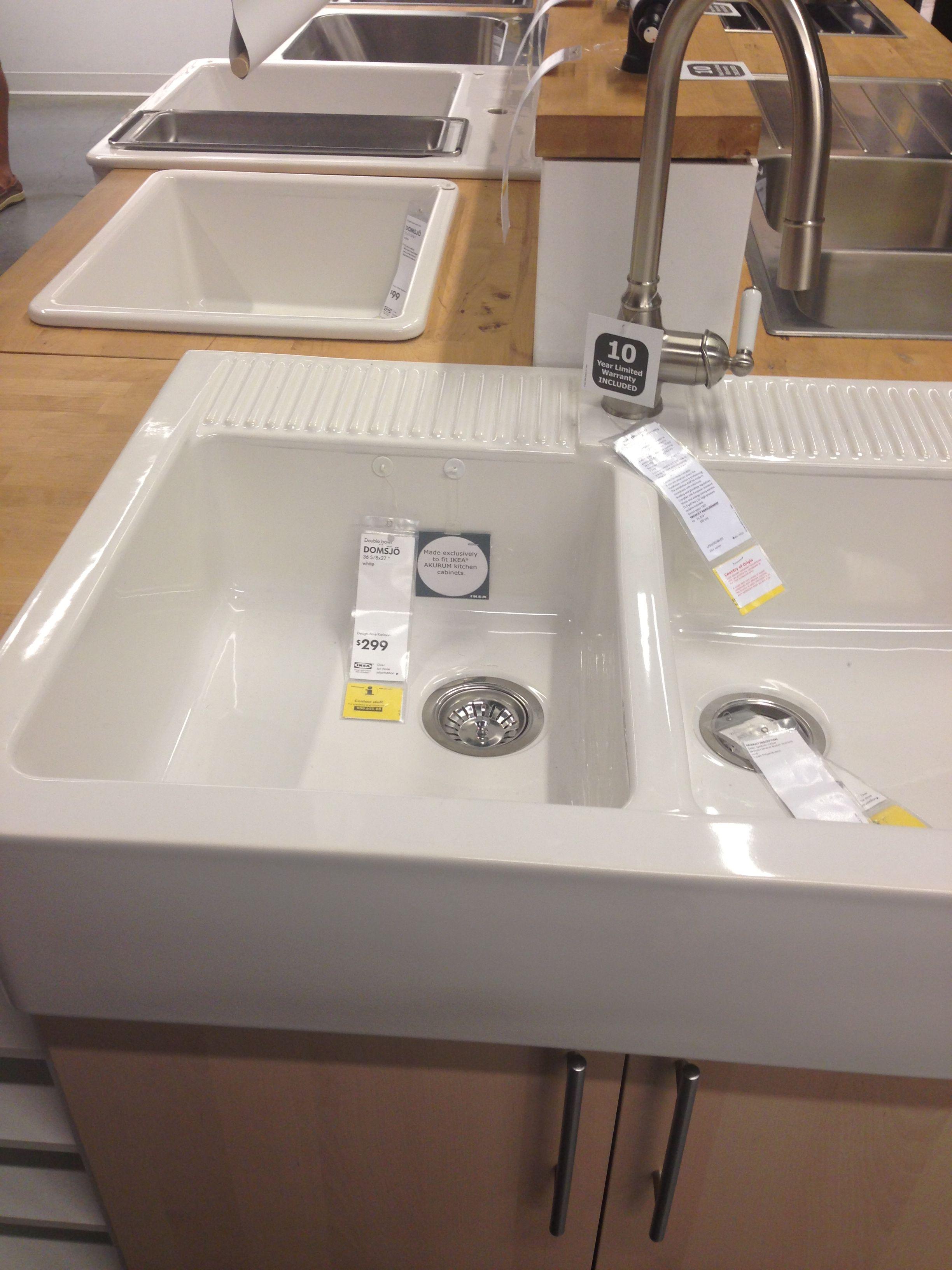 Domsjo Sink Ikea $299