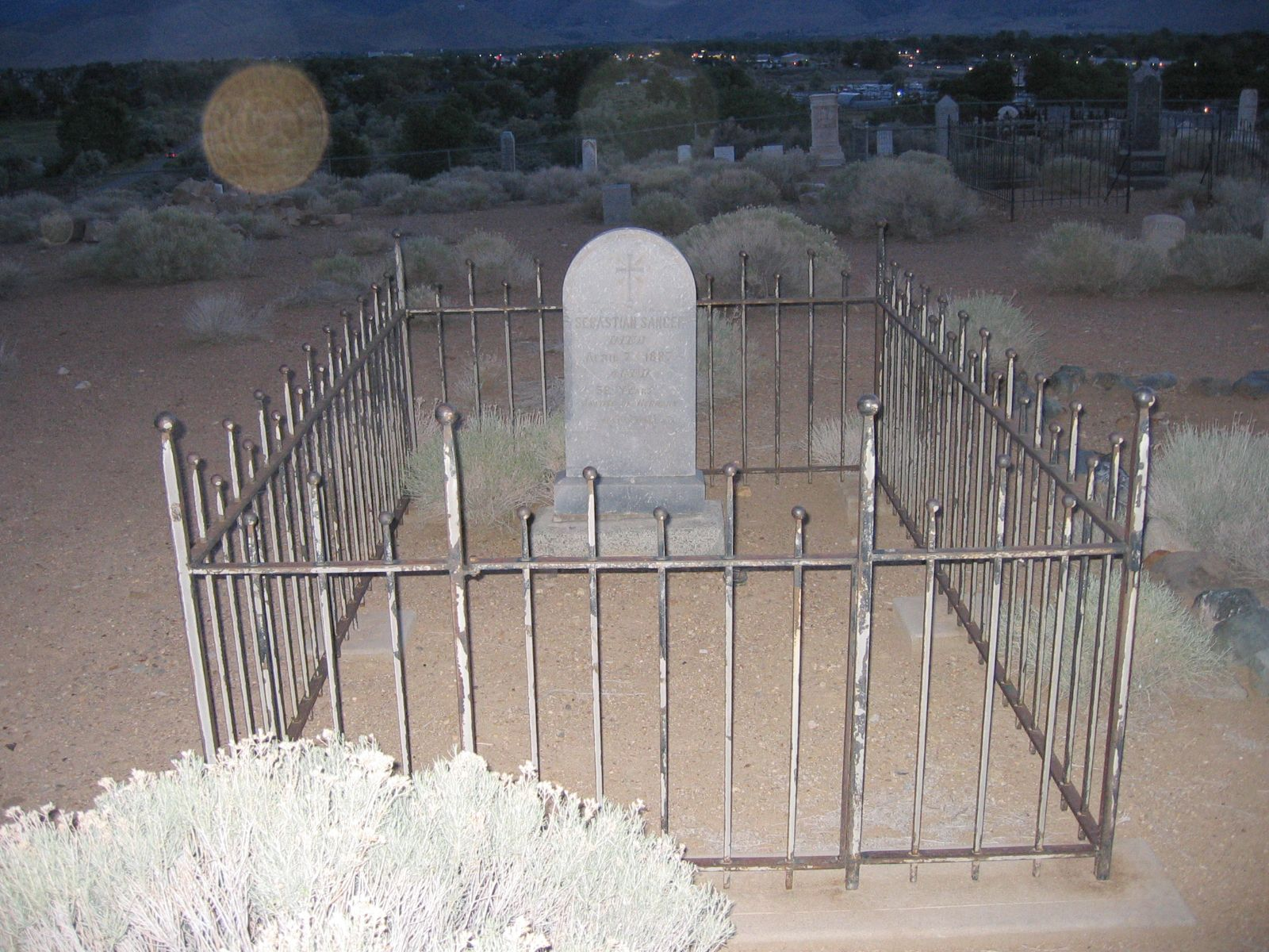 New Empire Cemetery, New Empire, Nevada. A very haunted cemetery of the late 1800s. Lots of spirits of children inhabit this cemetery.