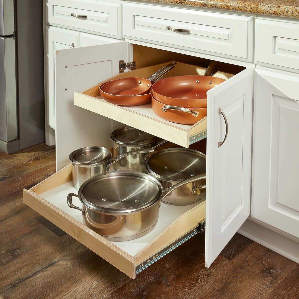roll out shelves kitchen cabinets