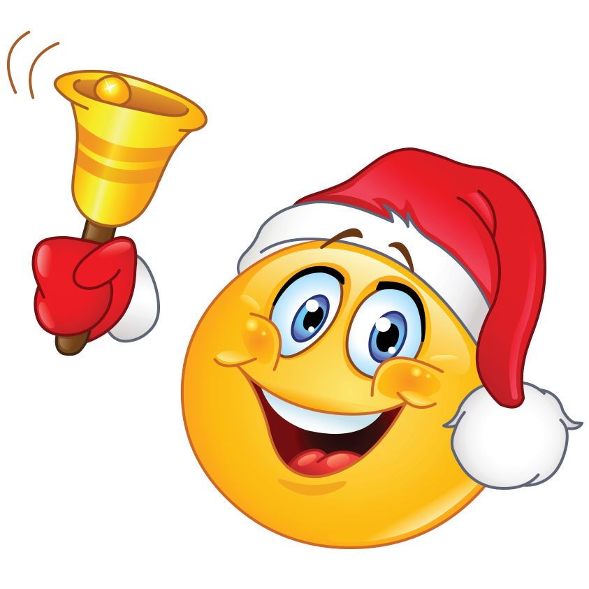 Christmas Emoji.Smile And Merry Christmas And Happy New Year The Whole