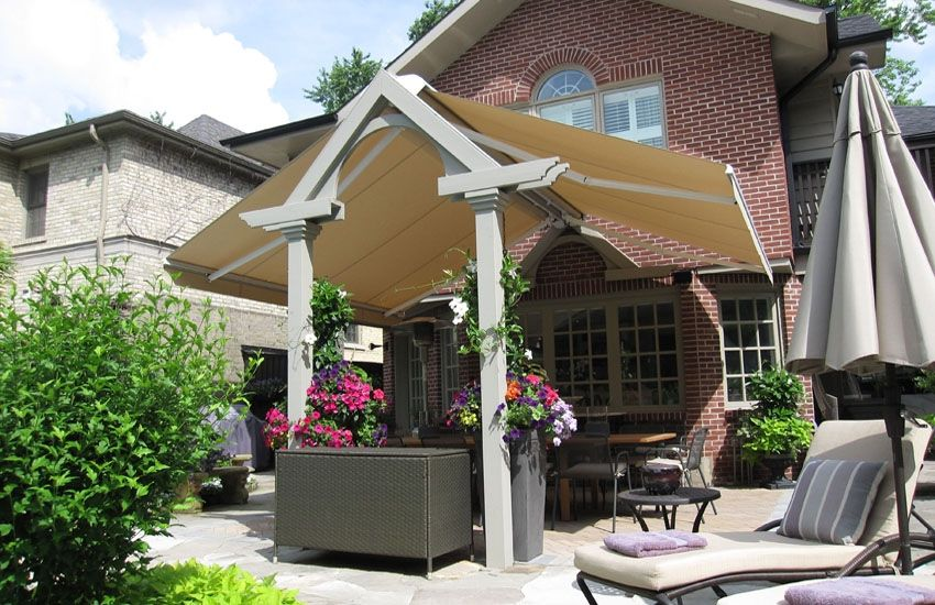 Installation To Free Standing Structure Retractable Awning Awning
