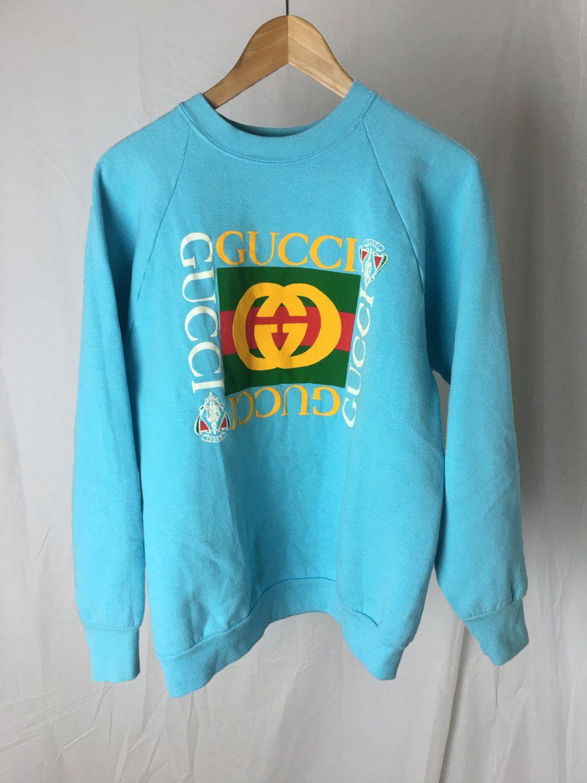 Vintage Gucci Sweatshirt Etsy Sweatshirt Fashion Sweatshirts Gucci Sweatshirt [ 1500 x 1125 Pixel ]