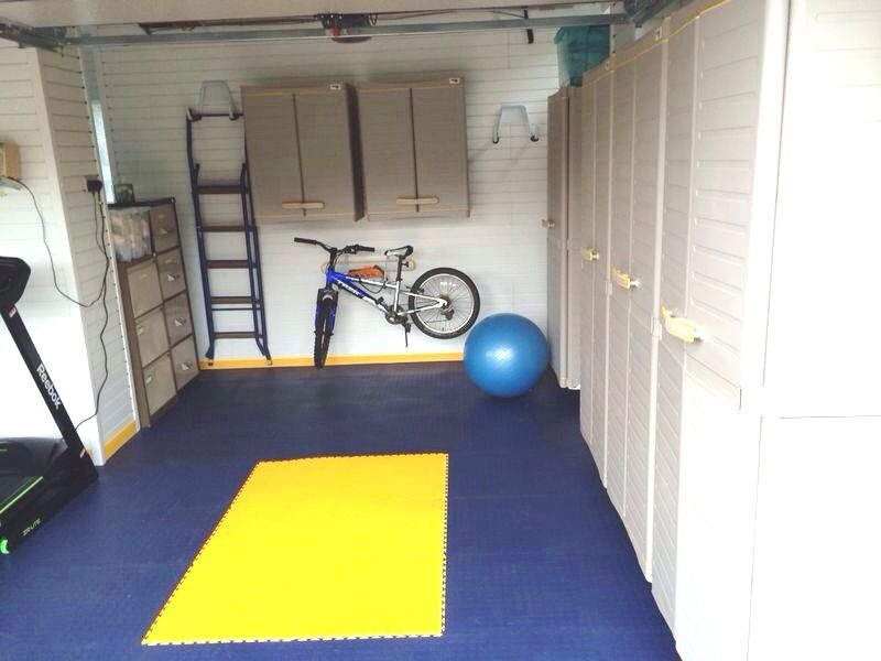 This double garage squeezed the most out the space with room for