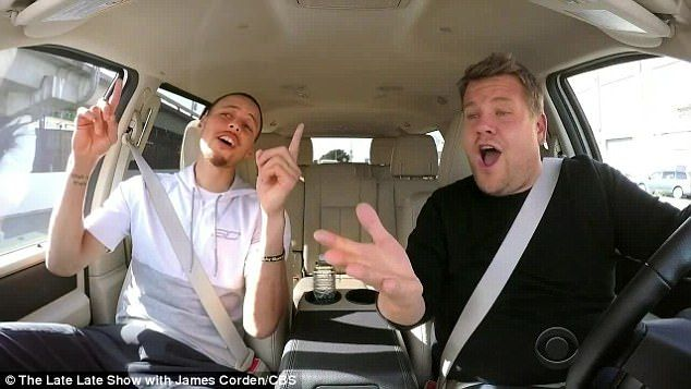 Sing it! Golden State Warriors point guard Stephen Curry joined James Corden for a Bay Area edition of his popular Carpool Karaoke segment on Monday's The Late Late Show