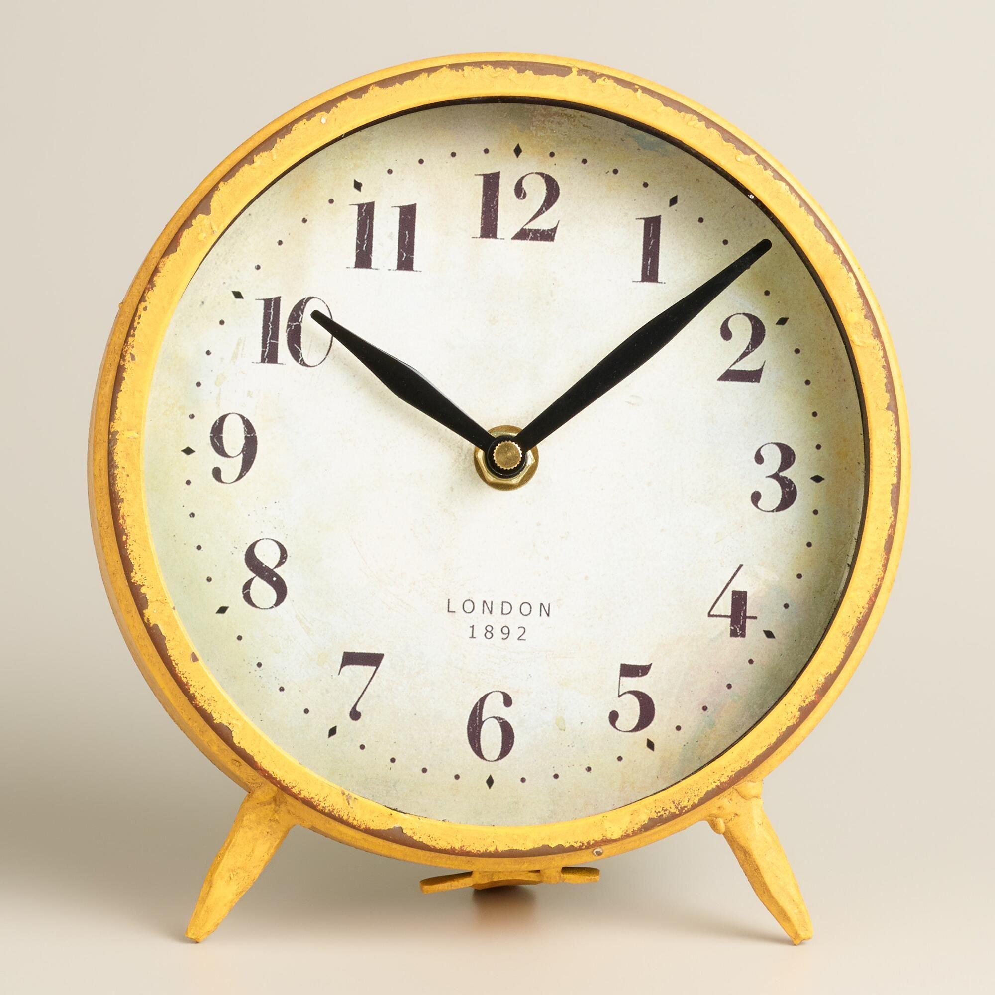 Small Yellow Charlie Clock Yellow Clocks Home Office
