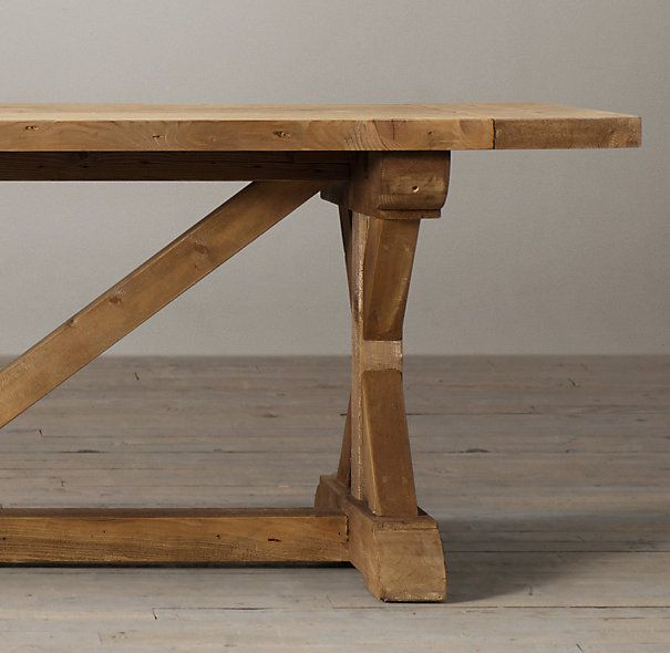 Restoration Hardware Salvaged Wood XBase Extension Table 72 to