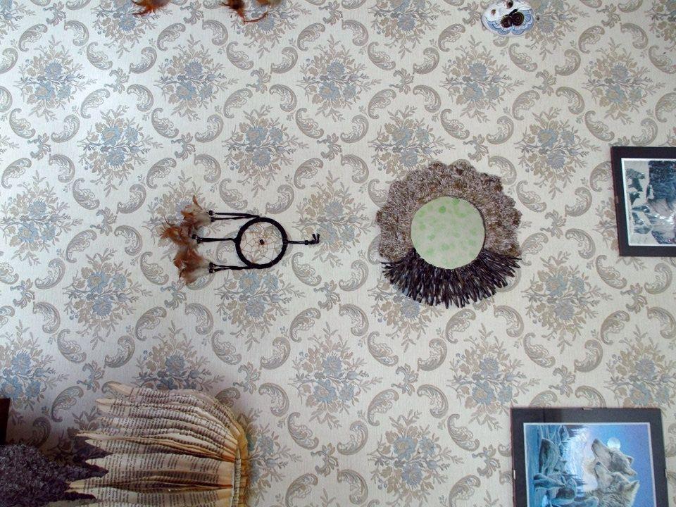 Specchiera da parete, specchio da muro, cornice in cartapesta ...