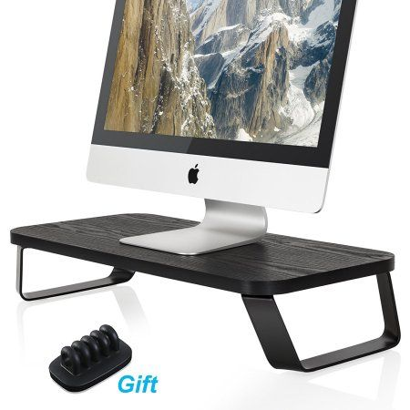 Fitueyes Modern Laptop Computer Monitor Riser Desktop Stands Space Saver Storage