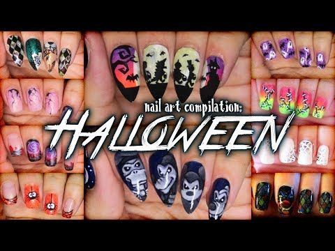 Halloween Nail Art Compilation Youtube Fashion Nail Art