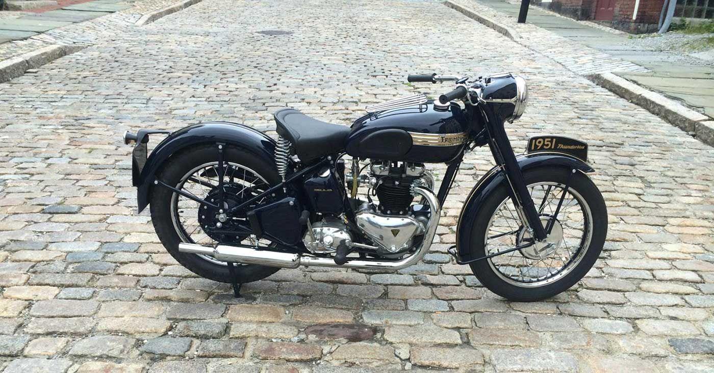 A Triumph Thunderbird Bluebird Brought Back From The Dead Triumph Thunderbird Triumph Triumph Motorcycles