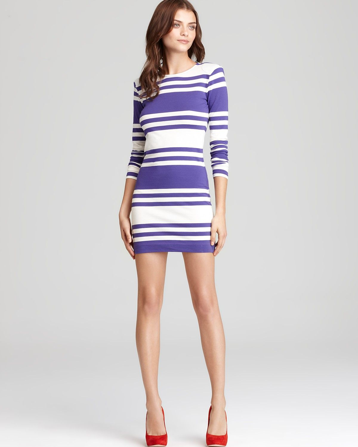 ec43baef774 French Connection - Jag Stripe Long Sleeve Dress