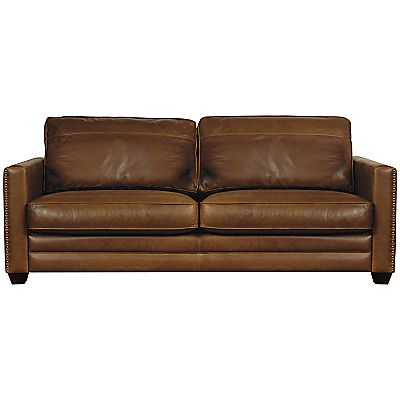 Buy John Lewis Hudson Grand Leather Sofa Dark Leg Online At Johnlewis Com John Lewis Small Leather Sofa Large Leather Sofas Leather Sofa
