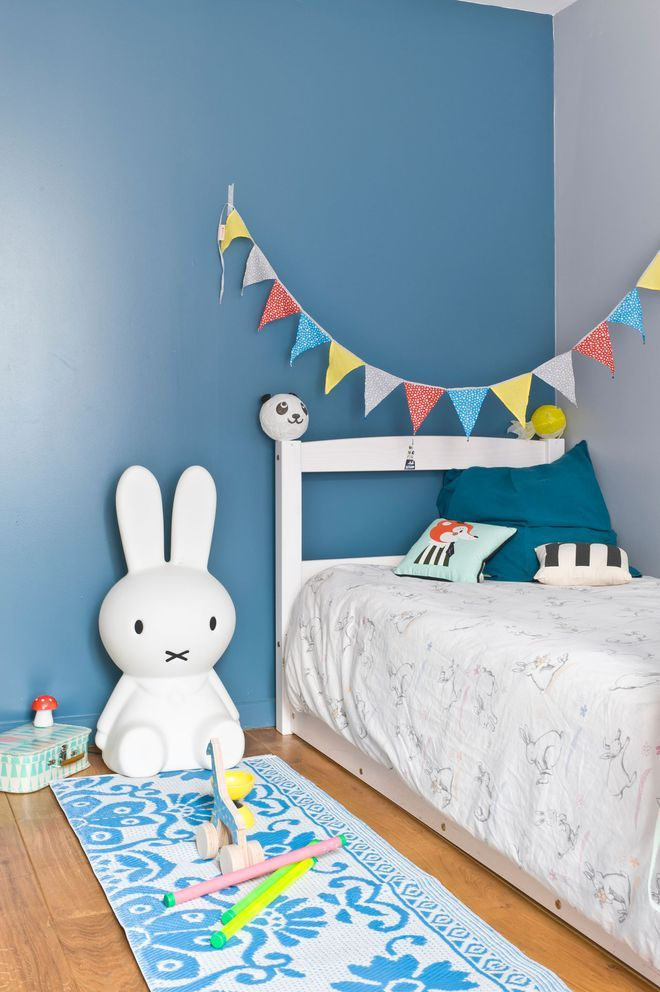 Peindre un seul mur dans la chambre d\'enfant | déco chambre efant ...