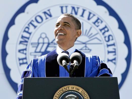 President Barack Obama delivers the commencement address at ...