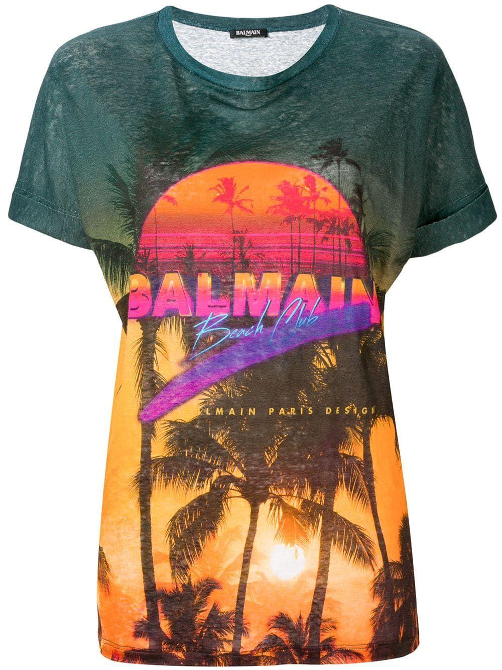 a2aae431 Balmain Balmain Beach Club T-shirt - Green in 2019   Products ...