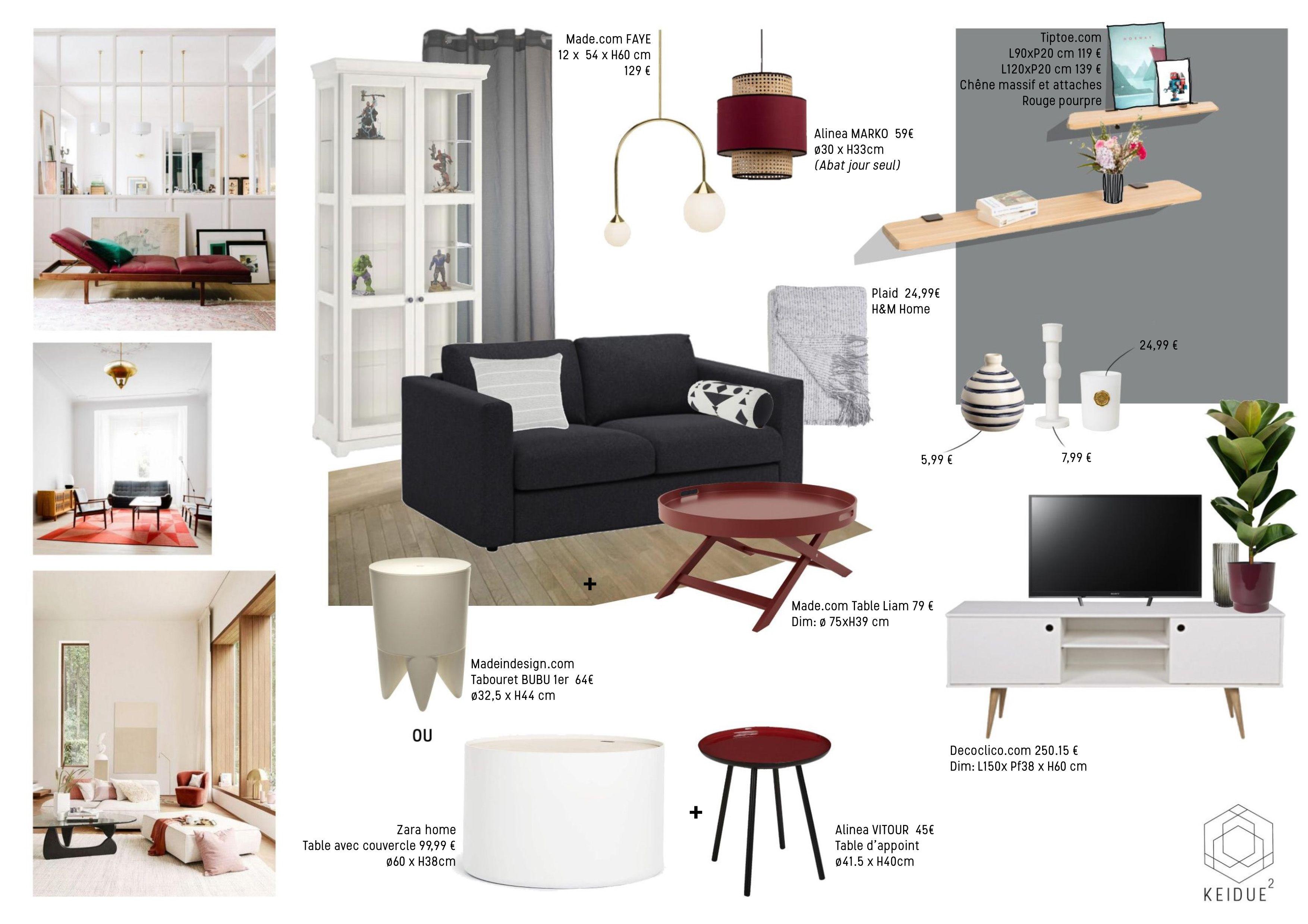 Shopping deco : aménager un petit salon www.keidue.com . #salon