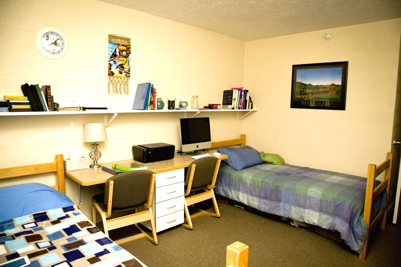 Check Out Your Bedroom In Merrill Hall You And Roomie Each Have Own Bed Desk Dresser Closet Edu Housing