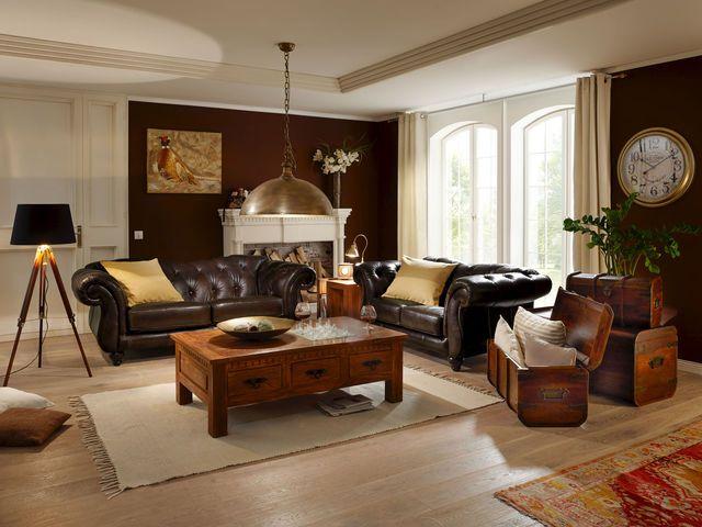 Chesterfield leeds braun von chesterfield style pinterest for Wohnzimmer kolonialstil