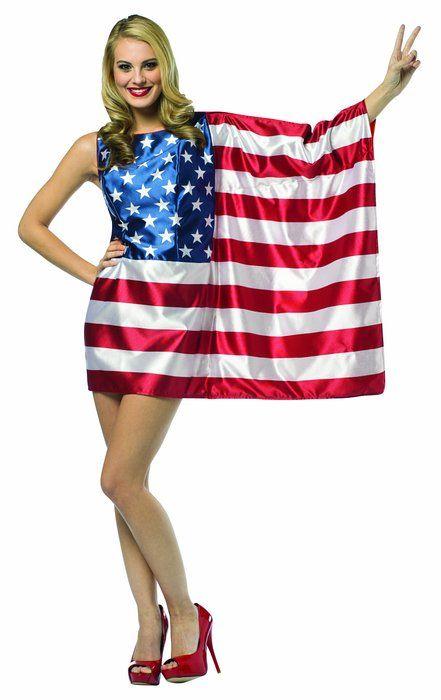 Rasta Imposta Flag USA Dress Red/White/Blue, Women's Size 4 - 10