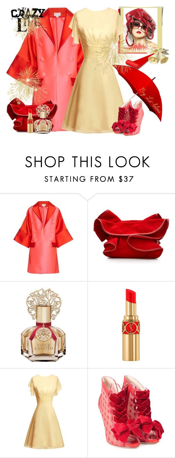 """My Crazy Life!"" by li-lilou ❤ liked on Polyvore featuring Antonio Berardi, Nina Ricci, Vince Camuto, Yves Saint Laurent and Sophia Webster"