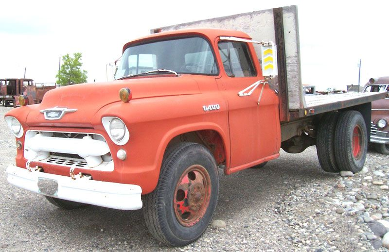 1955 Chevrolet Series 6400 2 Ton Flatbed Truck For Sale 57 Chevy Trucks Vintage Trucks Flatbed Trucks For Sale