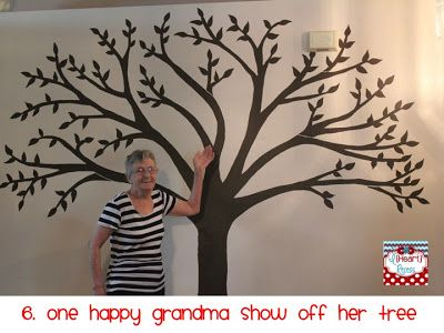Family Tree Paint Tree On Wall Attach Family Photos With Names