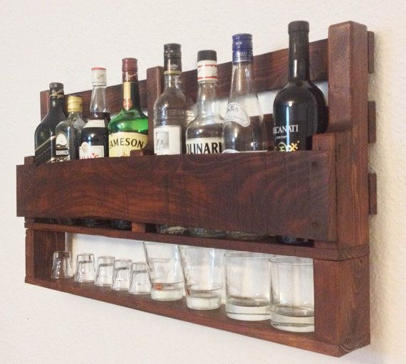 21 Amazing Shelf Rack Ideas For Your Home: Amazing Rustic Alcohol Rack Made From Reclaimed Pallets