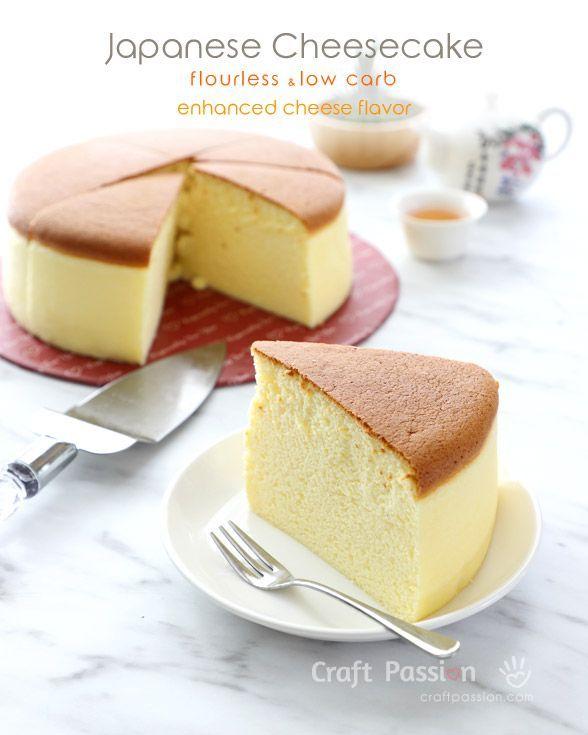 Low Carb Cheesecake - Fluffy, Flourless • Gesunde Backrezepte #japanischerkäsekuchen