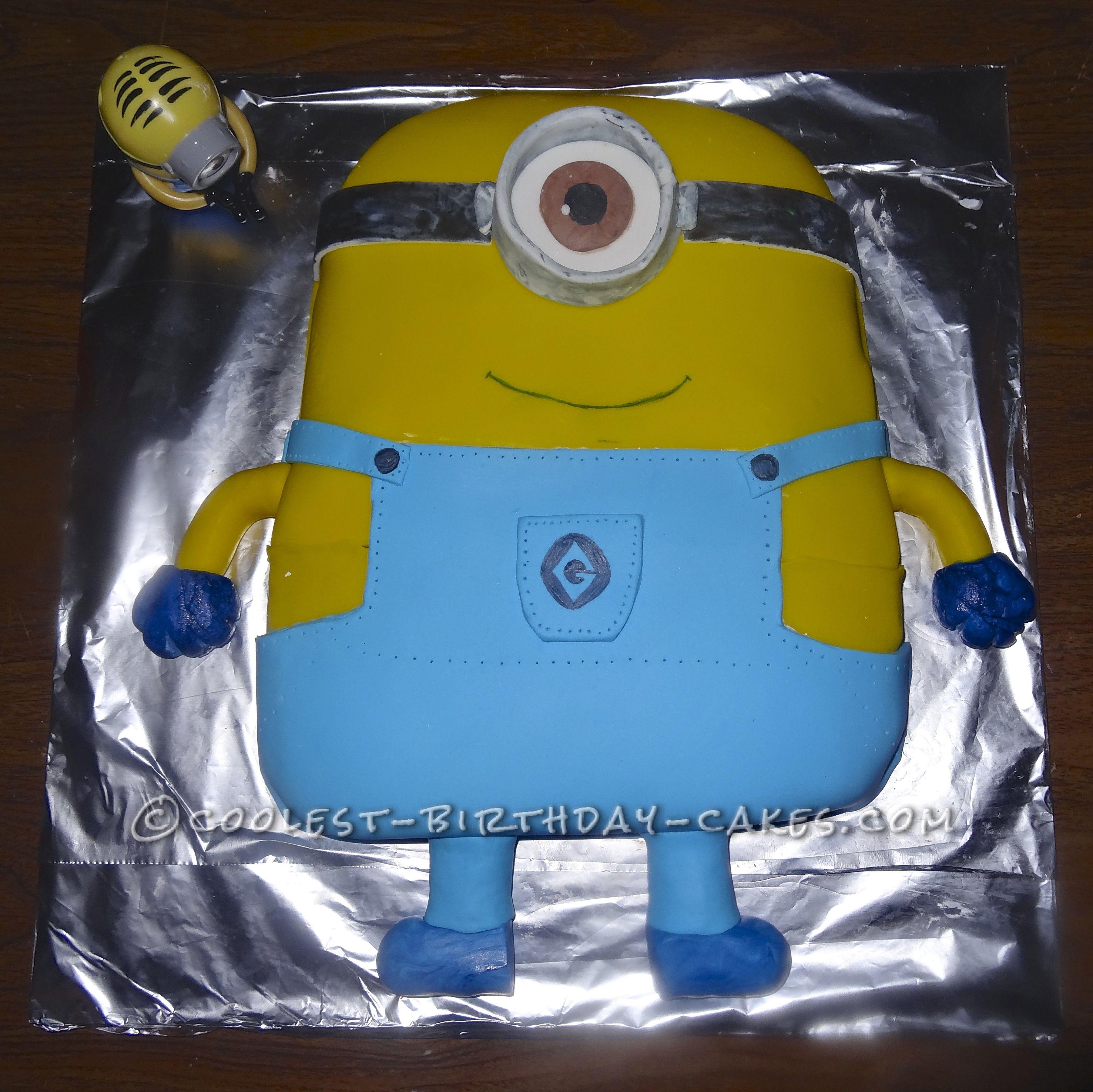 Stupendous Coolest Minion Birthday Cake From Despicable Me Minion Birthday Funny Birthday Cards Online Inifodamsfinfo