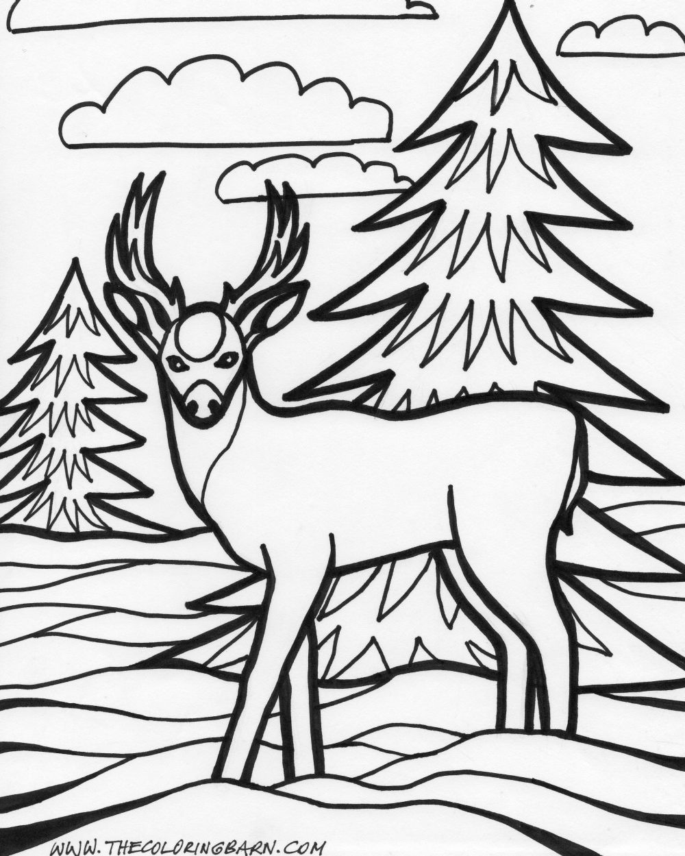 coloring pages animals coloring page 2 child coloring page - Deer Coloring Pages 2