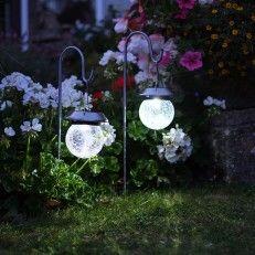Smart Garden Solar Globe Stake Lights With Shepherd Crook, 2 Pack