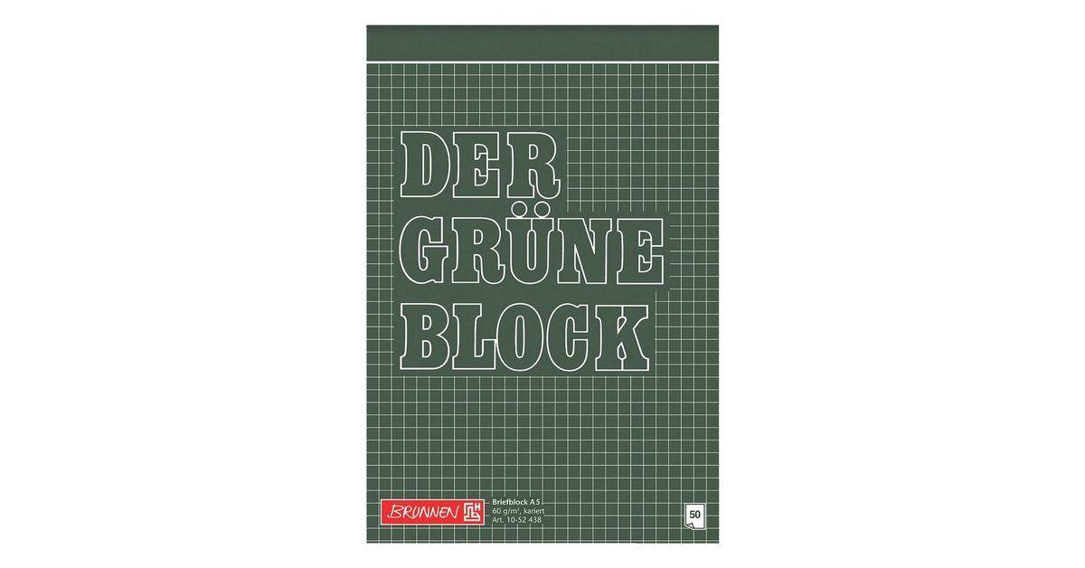 Brunnen Briefblock A5 Kariert Der Grune Block Papier Und