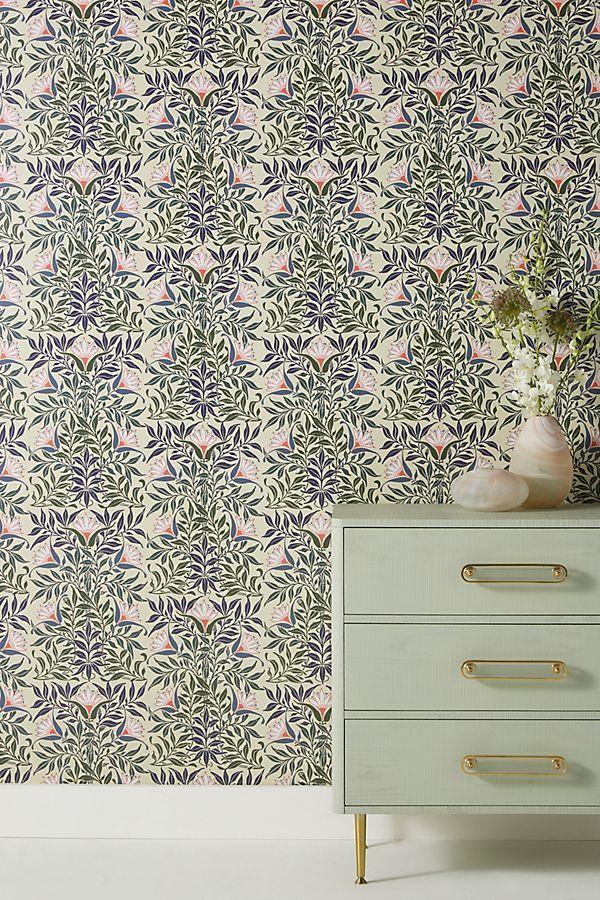 Slide View 1 Flower Vine Wallpaper Flowering Vines Modern Floral Wallpaper Temporary Wallpaper