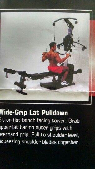 Wide grip lat pulldown weider crossbow exercises fitness diet