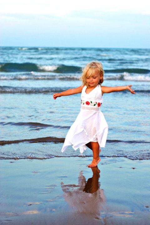 Красивые детские фото на пляже