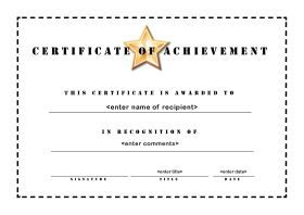 Sample Certificate Of Achievement Award Certificates Pdf. Award Of  Excellence Pdf Certificate .