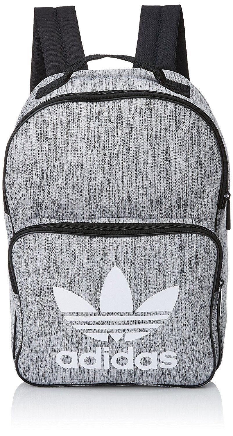 cbed018d87a Adidas Unisex BP Class Casual Bag. grey black and white. Amazon.co ...