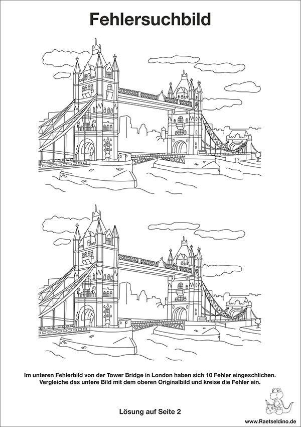 fehlersuchbild  tower bridge als bilderrätsel