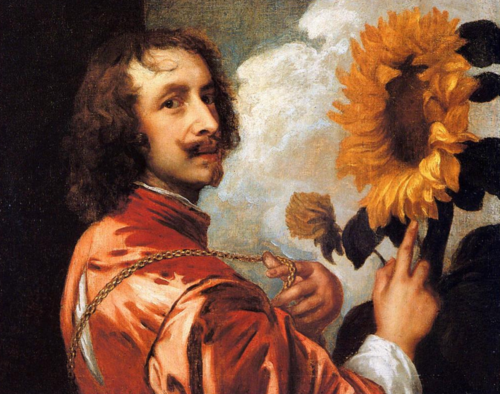 Self Portrait with a Sunflower, Anthony van Dyck