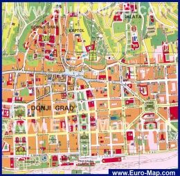 Karta Goroda Zagreb Horvatiya Zagreb Horvatiya Karty Goroda Turist